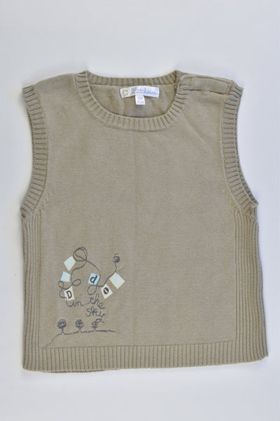 Kitchoun (France) Size 0 (12 months, 74 cm) Knitted Vest