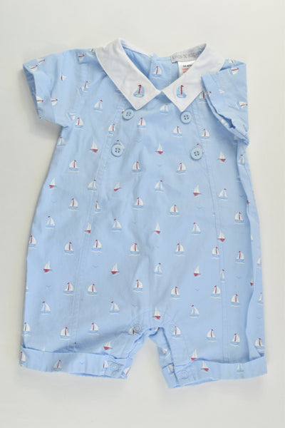 Kris X Kids (UK) Size 00 (3/6 months) Nautical Short Romper