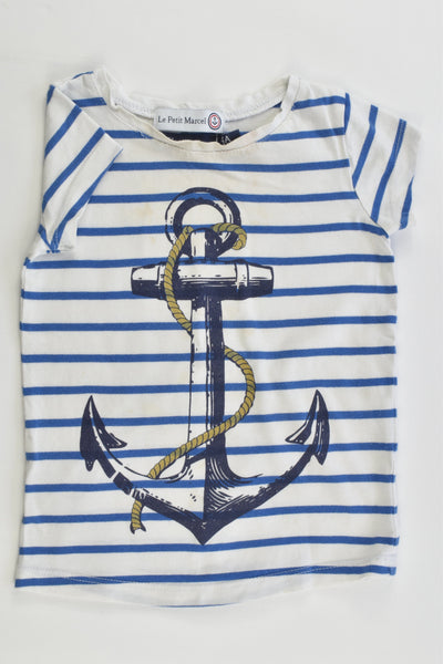Le Petit Marcel (France) Size 4 (104 cm) Anchor T-shirt