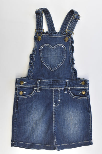 Lee Cooper Size 5 Stretchy Denim Dress with Love Heart Pocket at the Front
