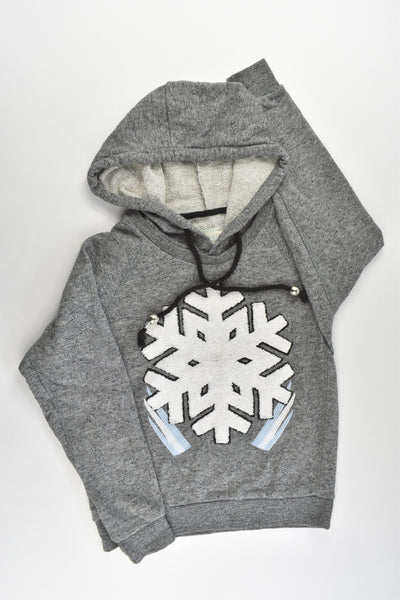 Lemonade by Pavement Size 8 Snowflake Hooded Jumper