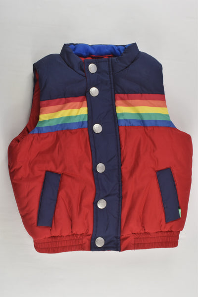 Little Bird Size 1 (86 cm) Rainbow Puffer Vest
