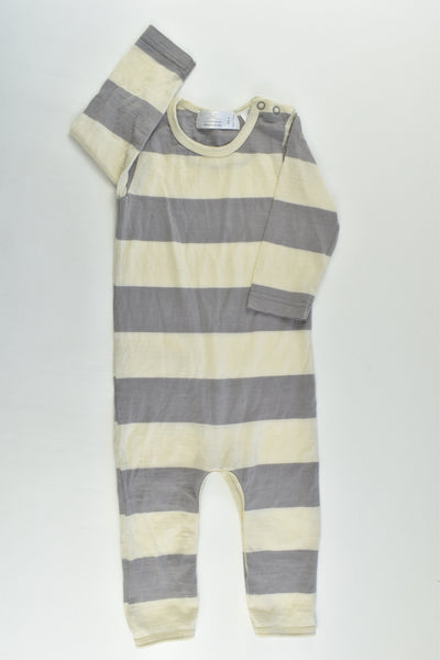 Little Bonbon (AU) Size 0 Grey Merino Wool Romper