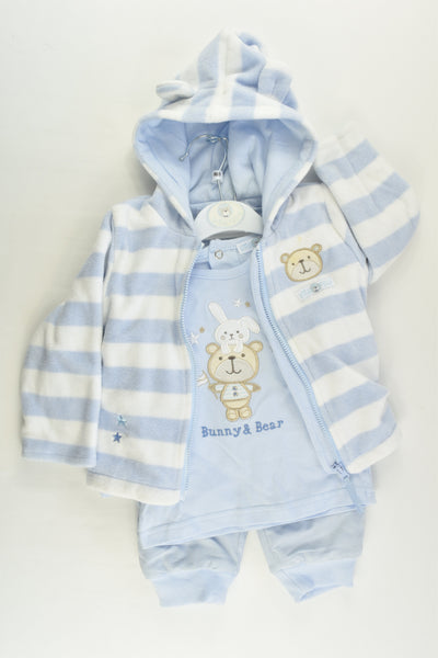 Little Fella Size 0 (6/9 months) Bear and Bunny Outfit