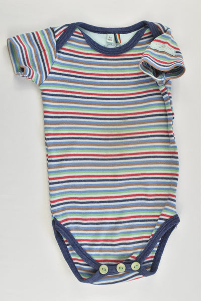 Little Shrimp (UK) Size 000 (0/3 months) Organic Striped Bodysuit