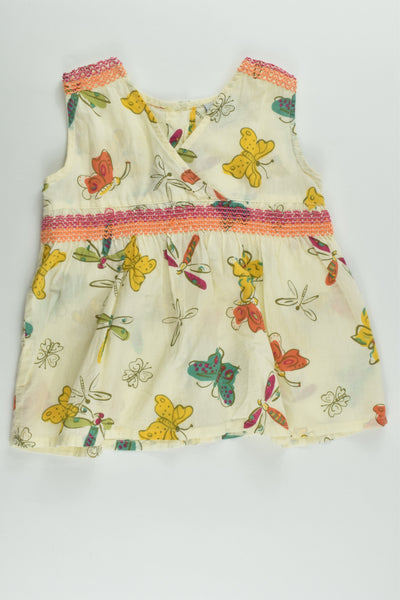 Little Treasure Size 1 Butterflies Dress/Blouse