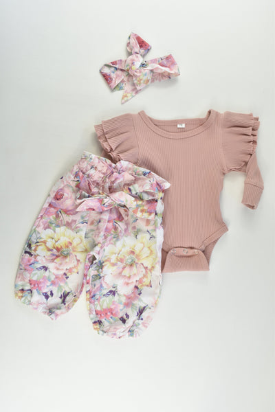 Love From Iylah Size approx 00 (70 cm) Bodysuit, Pants and Headband