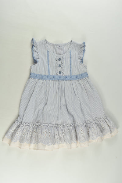 Marks & Spencer Size 0 (6-9 months) Blue Mix Dress