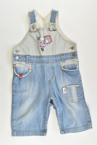 Matou France Size 1 (18 months) Nautical Lightweight Denim Short Overalls