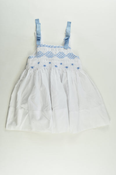 Mayoral Chic Size 0 (74 cm, 9 months) Lined Smocked Dress