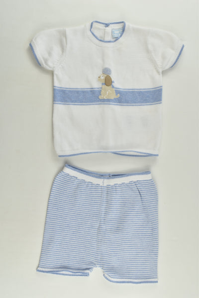Mayoral Size 00 (4-6 months, 70 cm) Knitted Nautical Outfit