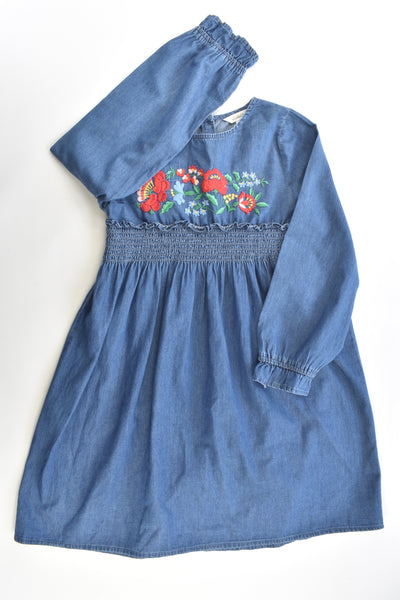 Milkshake Size 8 Lightweight Denim Dress With Floral Embroidery