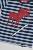 Milky Size 0 Striped Moose T-shirt