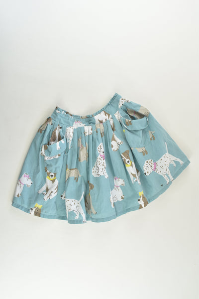 Mini Boden Size 3-4 Lined Dogs Skirt