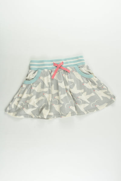 Mini Boden Size 4-5 Birds Skirt with Shorts Underneath