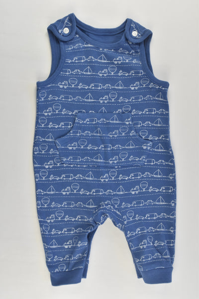 Mini Club Size 000 (0-3 months) Vehicles Cotton Overalls
