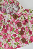 Miss B Boutique (AU) Size 2 Floral Skirt with Wooden Buttons