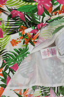 Miss E-Vie Size 12 Floral Lined Blouse