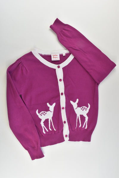 Miss Leona by Leona Edmiston Size 9 Deer Knitted Cardigan