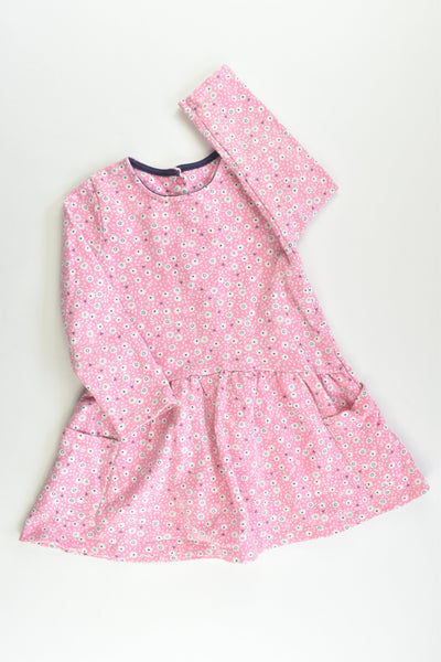 Mothercare Size 1 Floral Sweater Dress