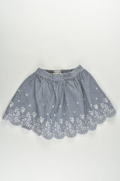 Mothercare Size 2 (92 cm) Striped Skirt with Lace Details