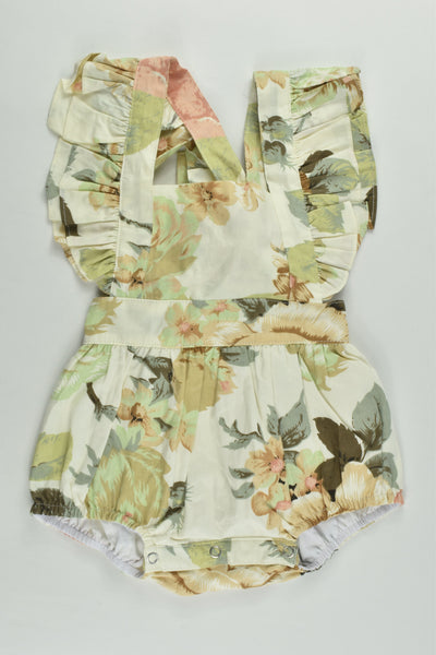 NEW Arabella and Rose Size 000 Floral Romper