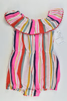 NEW Baby Baby Size 00 (3-6 months) Striped Playsuit