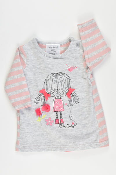 NEW Baby Baby Size 0000 Dress/Top Bow at the back