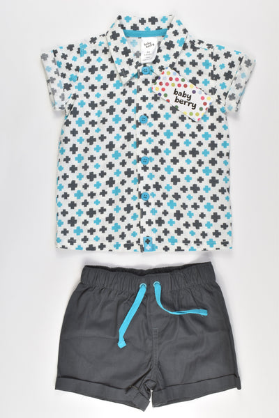 NEW Baby Berry Size 00 Collared Shirt and Shorts