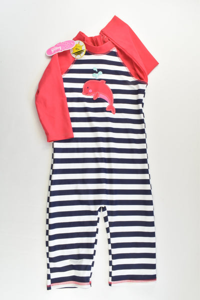 NEW Bluezoo (Debenhams) Size 5-6 Dolphin Rashie Suit