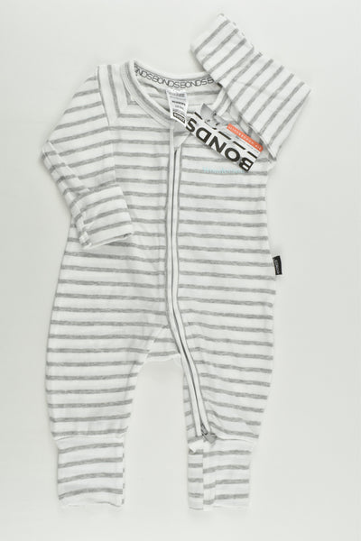 NEW Bonds Size 0000 (Newborn) Striped Wondersuit