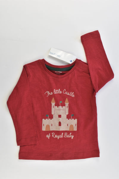 NEW Bout'Chou Size 0 (9 months, 71 cm) 'The Little Castle Of Royal Baby' Top