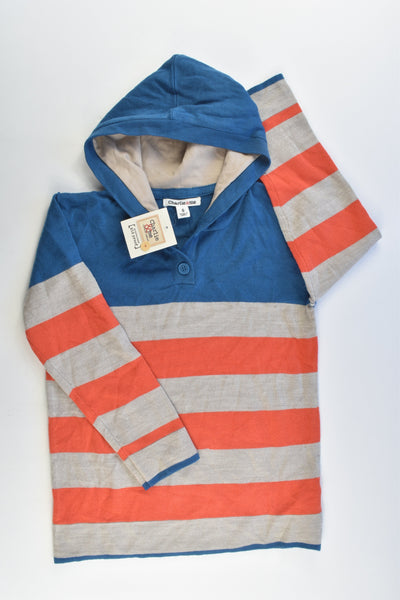NEW Charlie & Me Size 6 Knitted Striped Hooded Jumper