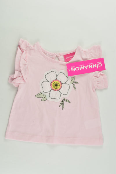 NEW Cinnamon Girl Size 00 Flower T-shirt