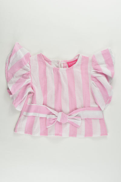 NEW Cinnamon Girl Size 00 Pink Stripes Top