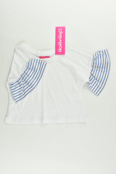 NEW Cinnamon Girl Size 00 Striped Sleeves T-shirt