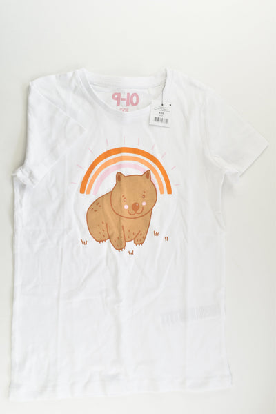 NEW Cotton On Kids Size 9-10 Wombat and Rainbow T-shirt