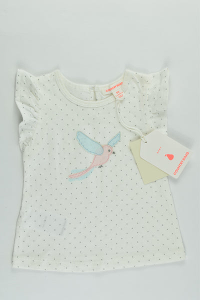 NEW Country Road Size 00 (3-6 months) Bird T-shirt