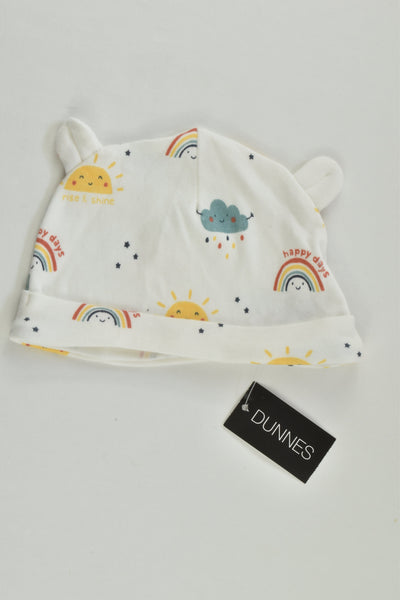 NEW Dunnes Size 000 (0-3 months) Rainbow Beanie