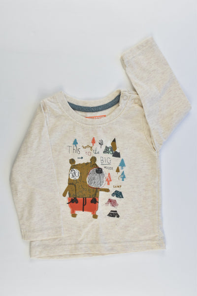 NEW Early Days Size 0 (74 cm) 'This Way To The Big Woods' Top