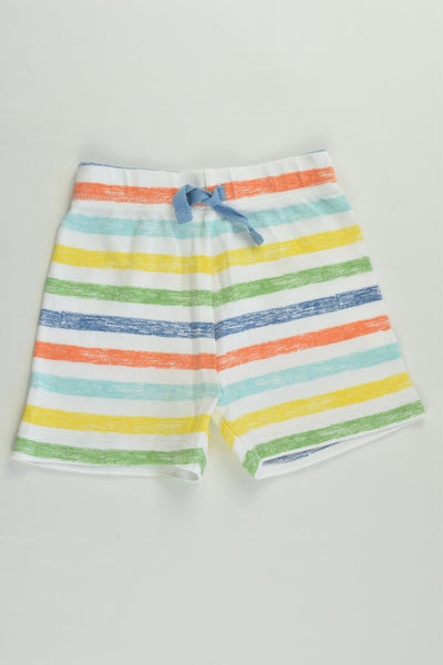 NEW George Size 00 (3-6 months) Colorful Stripes Shorts