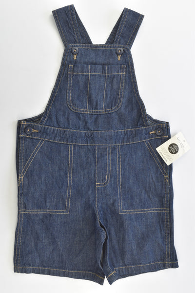 NEW George Size 4 Lightweight Short Denim Overalls