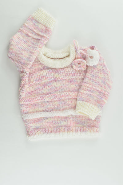 NEW Handmade Size approx 0 Knitted Jumper