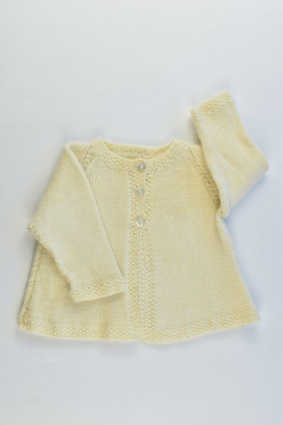 NEW Handmade Size approx 00 Knitted Cardigan
