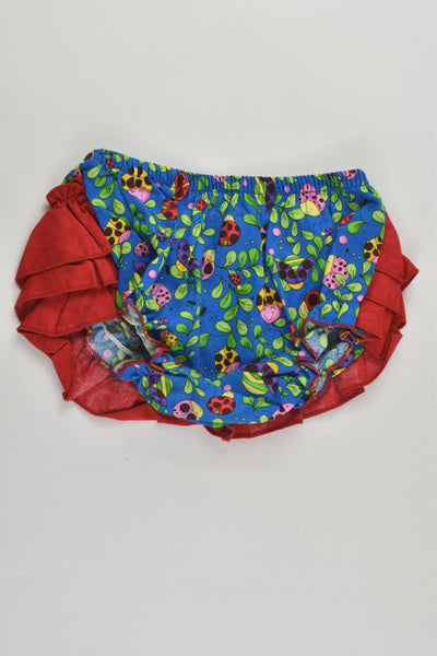 NEW Handmade Size approx 00 Ladybugs Bloomers with Ruffle at the back