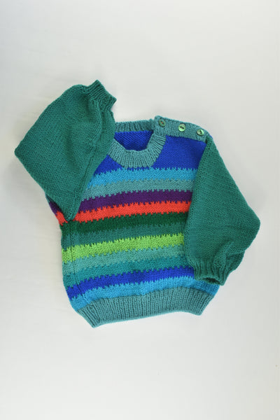 NEW Handmade Size approx 1 Knitted Jumper