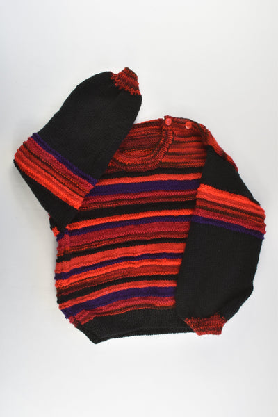 NEW Handmade Size approx 5-6 Knitted Jumper