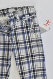 NEW Il Gufo (Italy) Size 000-00 (3 months) Stetchy Lightweight Checked Pants
