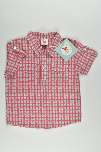 NEW La Queue Du Chat (France) Size 3 Organic and Fair Trade Collared Shirt