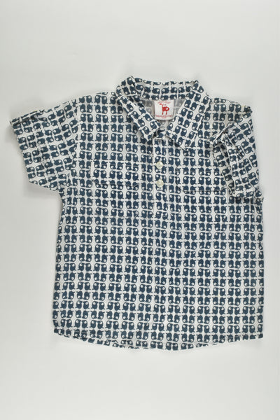 NEW La Queue Du Chat (France) Size 4 Organic and Fair Trade Collared Shirt